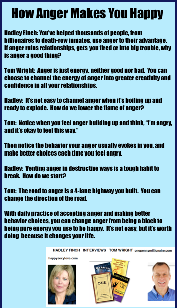 How anger makes you happy.  HappySexyLove.com