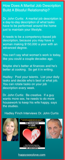 2-career couples build bliss with marital job description. HappySexyLove.com
