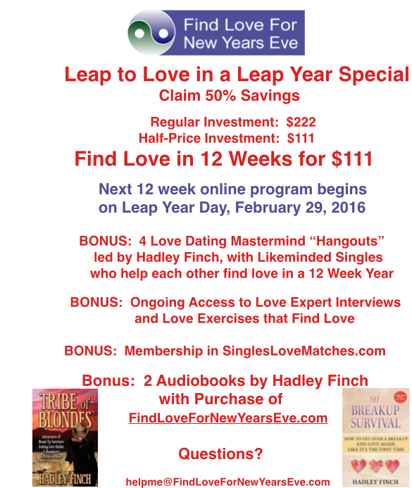 Singles leap to love on leap year day. FindLoveForNewYearsEve.com